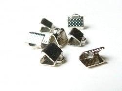 Acheter Fermoir griffe pour biais de tissu 8 mm - Argenté foncé - 0,19€ en ligne sur La Petite Epicerie - Loisirs créatifs