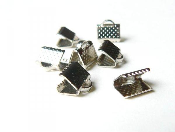 Acheter Fermoir griffe pour biais de tissu 8 mm - Argenté foncé - 0,19€ en ligne sur La Petite Epicerie - 100% Loisirs créatifs