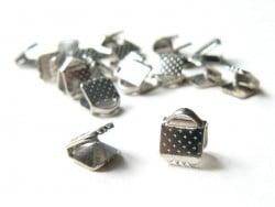 Ribbon crimp end for bias bindings, 5 mm - silver-coloured