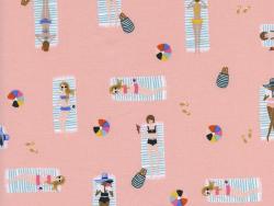 Acheter Tissu coton Rifle Paper - Sun Girls Corail - 2,15€ en ligne sur La Petite Epicerie - Loisirs créatifs