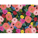 Tissu viscose Rifle Paper - Juliet Rose Navy