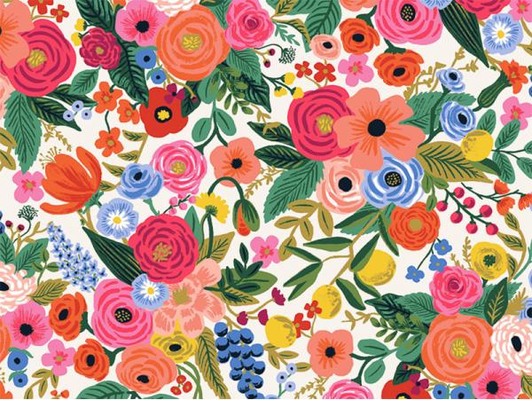 Acheter Tissu coton Rifle Paper - Petite Garden Party Cream - 2,19€ en ligne sur La Petite Epicerie - 100% Loisirs créatifs