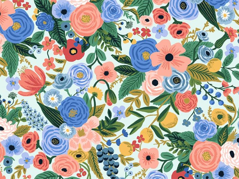 Acheter Tissu coton Rifle Paper - Petite Garden Party Blue - 2,19€ en ligne sur La Petite Epicerie - Loisirs créatifs