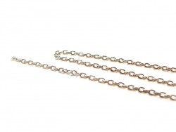 1 m of silver-coloured cable chain, 3 mm