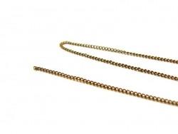 1 m chaine gourmette couleur bronze - 1 mm  - 2