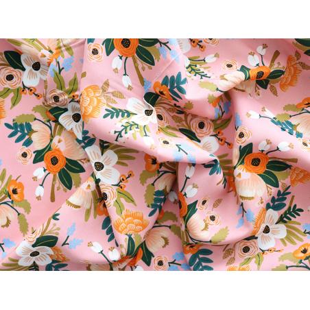 Acheter Tissu viscose Rifle Paper - Lively Floral Corail - 2,63€ en ligne sur La Petite Epicerie - Loisirs créatifs