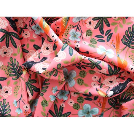 Acheter Tissu viscose Rifle Paper - Paradise Garden Corail - 3,36€ en ligne sur La Petite Epicerie - 100% Loisirs créatifs