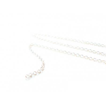 1m chaine forçat argent clair - 1,5 mm