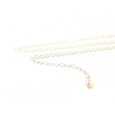 1m chaine forçat argent clair - 1,5 mm  - 2