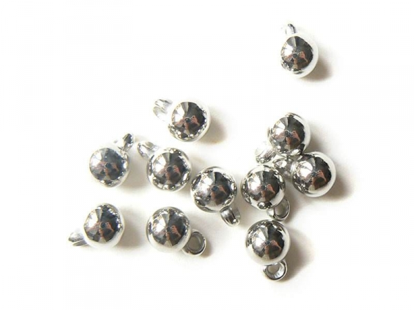 10 Christmas bauble charms - silver-coloured