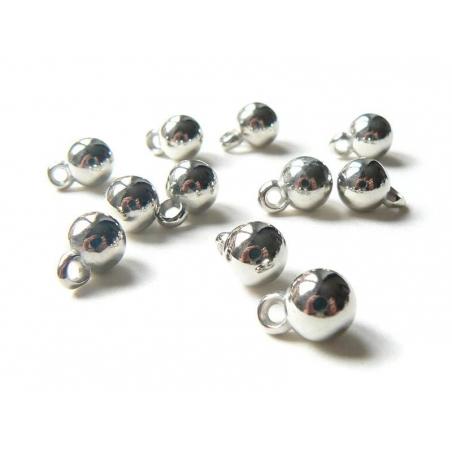 10 breloques boules de noël - argentée