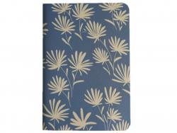 Acheter Carnet A5 à feuilles vierges Ambre - Fleurs beiges sur fond bleu - 8,49€ en ligne sur La Petite Epicerie - 100% Lois...