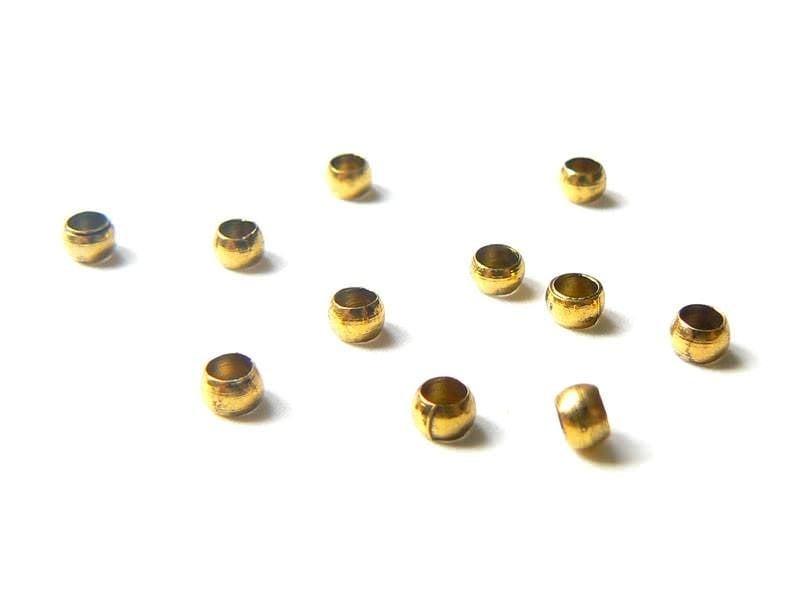Acheter 10 perles à écraser dorées - 0,39€ en ligne sur La Petite Epicerie - Loisirs créatifs