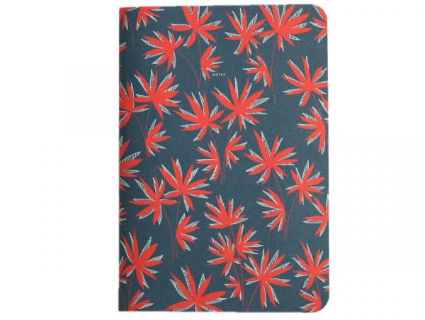 Acheter Carnet A5 à feuilles vierges Aurélien - Feuilles rouges sur fond bleu - 8,49€ en ligne sur La Petite Epicerie - Lois...