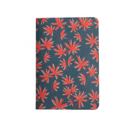 Acheter Carnet A5 à feuilles vierges Aurélien - Feuilles rouges sur fond bleu - 8,49€ en ligne sur La Petite Epicerie - 100%...
