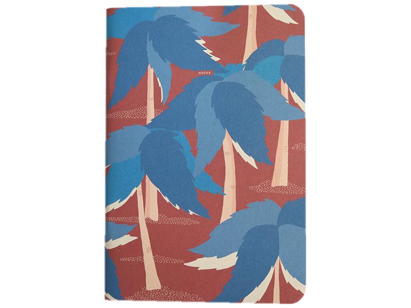 Acheter Carnet A5 ligné Paul - Palmiers bleus - 8,49€ en ligne sur La Petite Epicerie - Loisirs créatifs