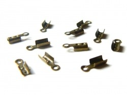 10 Endkappen - bronzefarben