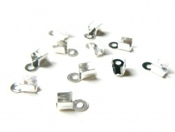 10 medium-sized crimp end caps - 2 mm