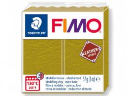 Pâte Fimo LEATHER EFFECT - Olive 519 Fimo