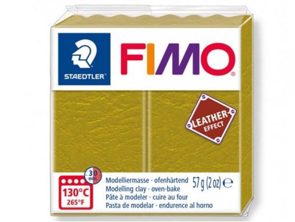 Acheter Pâte Fimo LEATHER EFFECT - Olive 519 - 1,99€ en ligne sur La Petite Epicerie - Loisirs créatifs