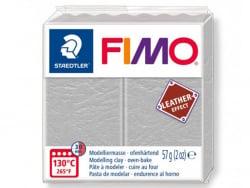 Pâte Fimo LEATHER EFFECT - Gris Pâle 809 Fimo