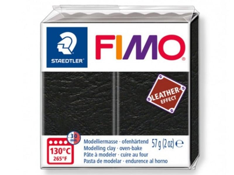 Acheter Pâte Fimo LEATHER EFFECT - Noir 909 - 1,99€ en ligne sur La Petite Epicerie - 100% Loisirs créatifs