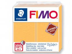 Pâte Fimo LEATHER EFFECT - Jaune Safran 109 Fimo