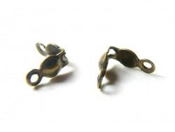 20 bronzefarbene Quetschkalotten - Größe L