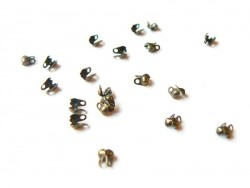 20 bronze-coloured bead tips - Size S
