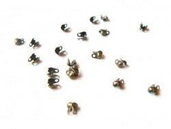 20 bronzefarbene Quetschkalotten - Größe S