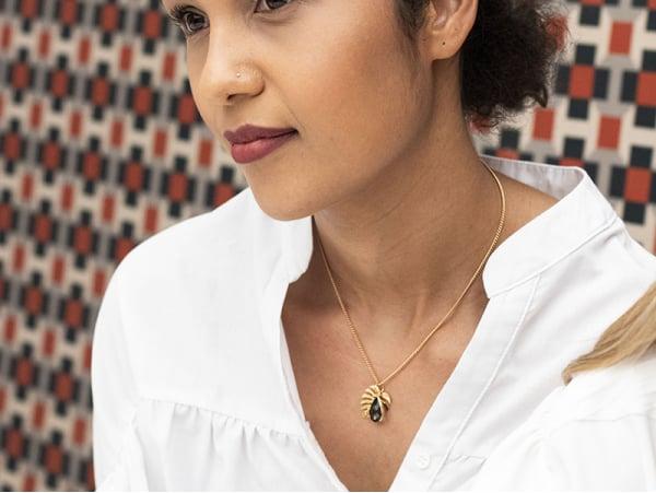 Acheter Collier Madame Patachou gris anthracite - Kit bijoux précieux dorés à l'or fin - 14,89€ en ligne sur La Petite Epice...
