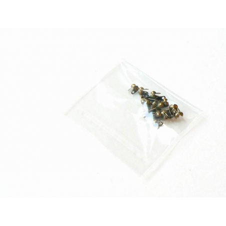 20 bronze-coloured bead tips - Size S