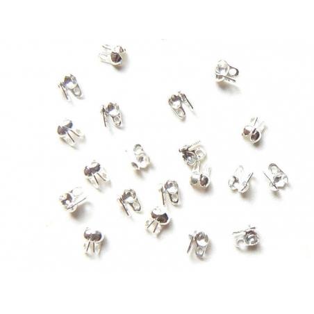 Acheter 20 cache-noeuds argenté clair - Taille S - 2,29€ en ligne sur La Petite Epicerie - Loisirs créatifs