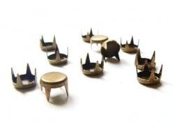 10 clous à griffes rond 7 mm- couleur bronze