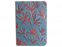 Acheter Carnet A6 à feuilles vierges Osiris - Feuilles rouges sur fond bleu - 4,99€ en ligne sur La Petite Epicerie - 100% L...