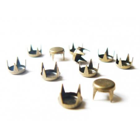 10 clous à griffes rond 7 mm- couleur bronze  - 3