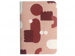 Acheter Carnet A6 à feuilles vierges Julien - Abstrait rose - 4,99€ en ligne sur La Petite Epicerie - 100% Loisirs créatifs
