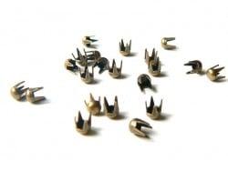 20 clous à griffes rond 3 mm - couleur bronze