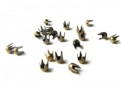 20 runde Nieten (3 mm) - bronzefarben