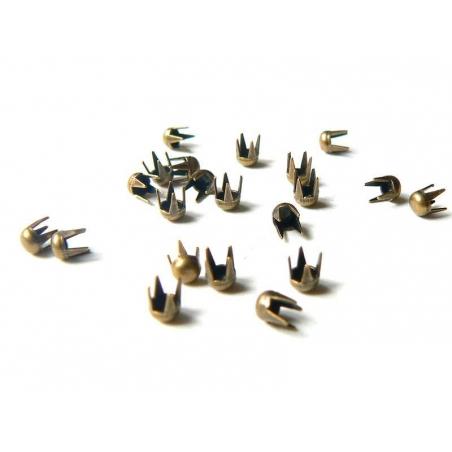 20 round studs (3 mm) - bronze-coloured