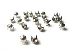 20 clous à griffes rond 5 mm - argenté