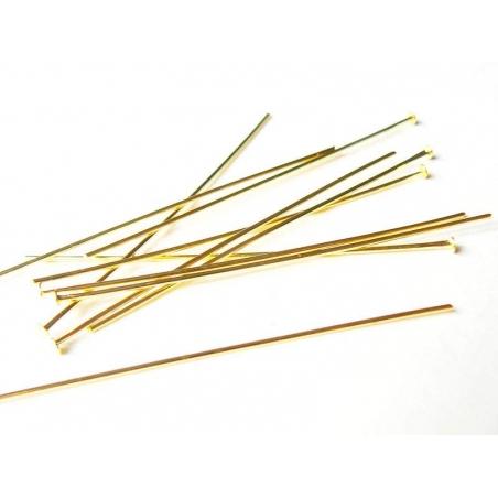 Acheter 10 clous dorés à tête plate - 50 mm - 1,09€ en ligne sur La Petite Epicerie - 100% Loisirs créatifs