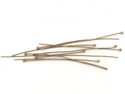 Acheter 10 clous à tête boule - couleur bronze - 0,49€ en ligne sur La Petite Epicerie - Loisirs créatifs