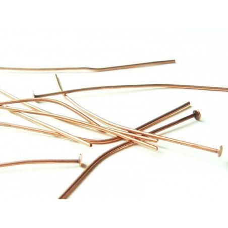 Acheter 10 clous cuivrés à tête plate - 50 mm - 1,09€ en ligne sur La Petite Epicerie - Loisirs créatifs