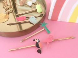 Acheter Lot de 6 barrettes - Tropical - 9,69€ en ligne sur La Petite Epicerie - 100% Loisirs créatifs