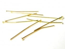 10 goldfarbene Nietstifte - 30 mm