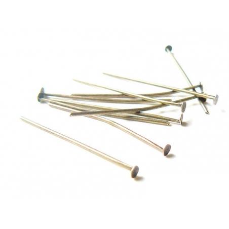 Acheter 10 clous couleur bronze à tête plate - 30 mm - 1,09€ en ligne sur La Petite Epicerie - 100% Loisirs créatifs