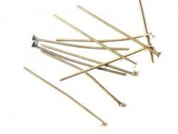 10 clous couleur bronze à tête plate - 30 mm