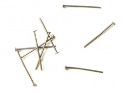 10 bronze-coloured head pins - 20 mm