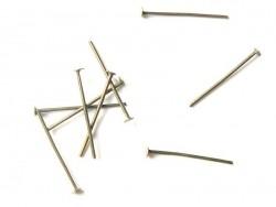 10 clous couleur bronze à tête plate - 20 mm